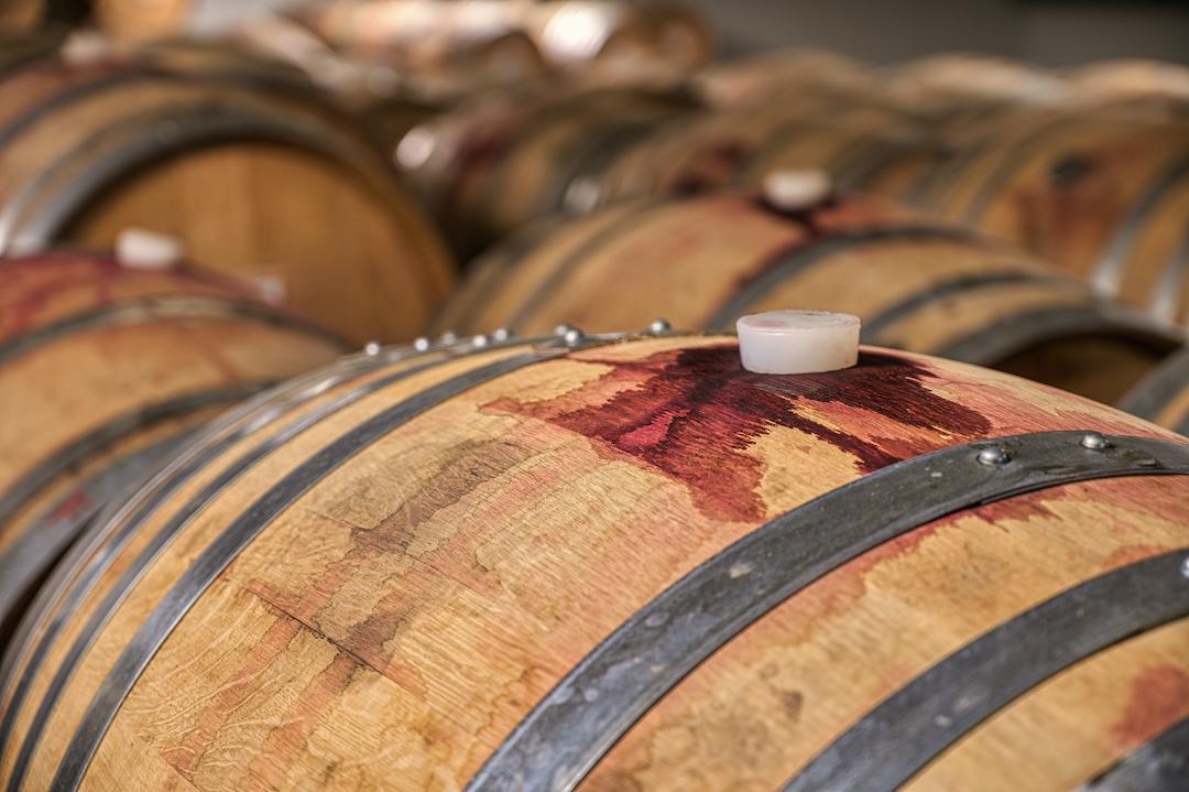 beczka wina podczas fermentacji